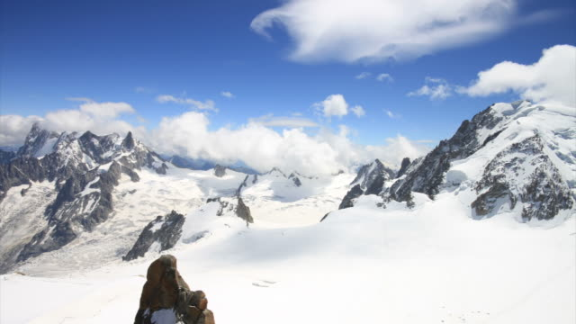 Aiguille du midi looking to Italy