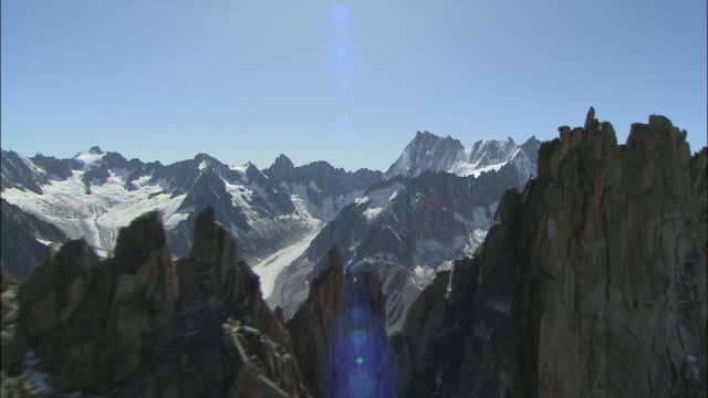 aiguilles de chamonix - mont blanc stock videos & royalty-free footage