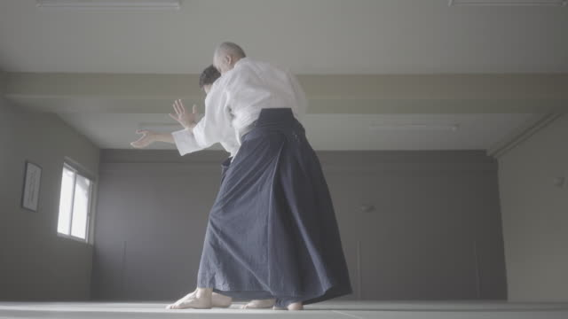 aikido class - martial arts stock videos & royalty-free footage