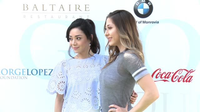 Aimee Garcia and Lizzy Small at the 10th Annual George Lopez Foundation Celebrity Golf Classic at Lakeside Golf Club on May 1 2017 in Toluca Lake...