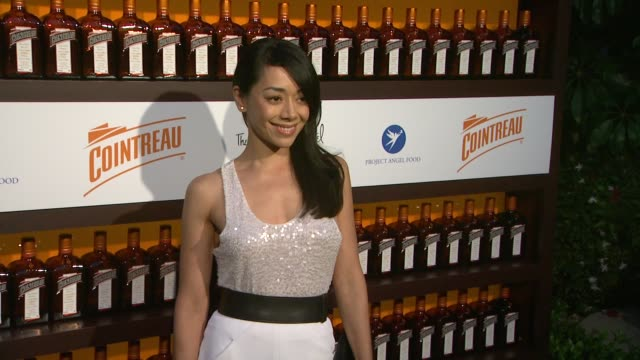 aimee garcia at cointreau and dita von teese launch cointreau poolside soirees in celebration of the beverly hills hotel's 100th anniversary in... - beverly hills hotel stock videos and b-roll footage