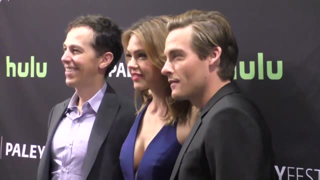 aimee teegarden and kevin zegers at the paley center for media's paleyfest 2016 fall tv preview - abc at celebrity sightings in los angeles on... - paley center for media los angeles stock videos & royalty-free footage
