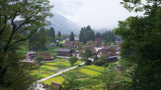 ainokura village in gokayama - 世界遺産点の映像素材/bロール