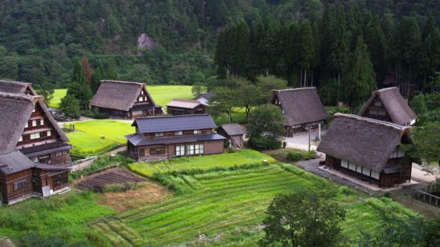 ainokura village in gokayama - toyama prefecture stock videos and b-roll footage