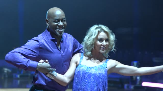 ainsley harriott , natalie lowe at strictly come dancing tour launch on january 21, 2016 in birmingham, england. - ストリクトリーカムダンシング点の映像素材/bロール