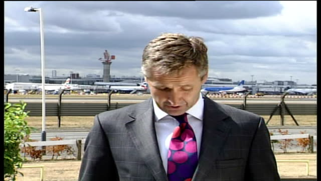 itv news special 1030 1130 stewart live studio heathrow airport ext austin live 2way reads statement from british airways authority about flights to... - terrorism stock videos & royalty-free footage