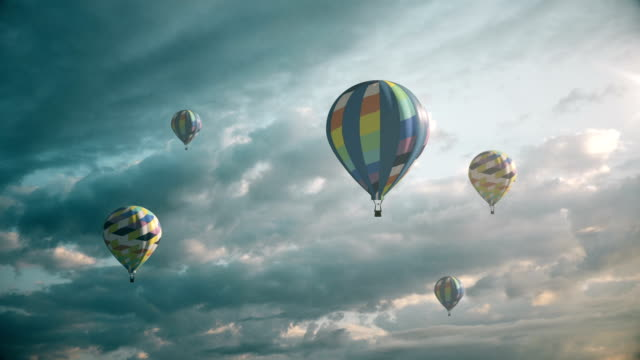 air balloons - digital enhancement stock videos and b-roll footage