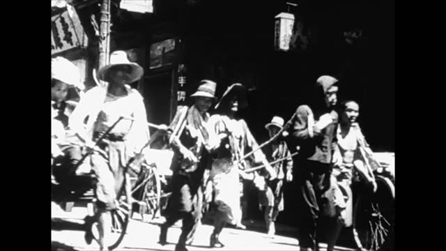 air bombing of shanghai/ civilians running through the streets/ victims - 1937 stock videos & royalty-free footage