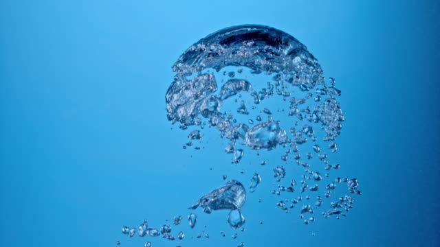 SLO MO Air bubbles floating in water