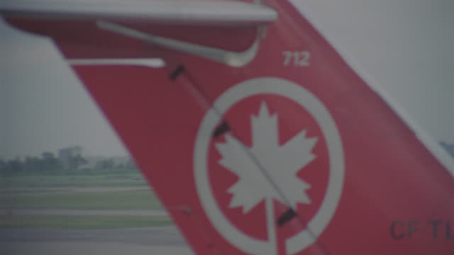 air canada dc-9 landing, montreal airport - montréal stock videos & royalty-free footage