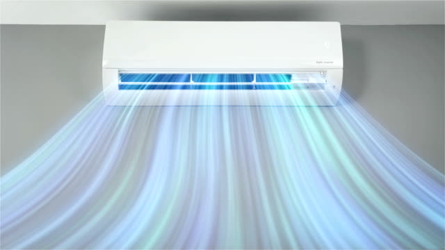 air conditioner blowing cold - 4k resolution - air duct stock videos & royalty-free footage