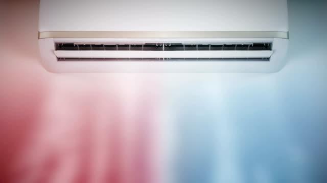 klimaanlage, die kalte und warme luft weht - klimaanlage stock-videos und b-roll-filmmaterial