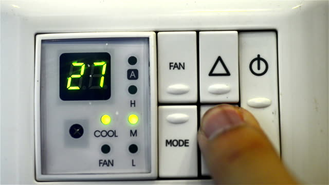 air conditioner digital thermostat - power supply stock videos & royalty-free footage