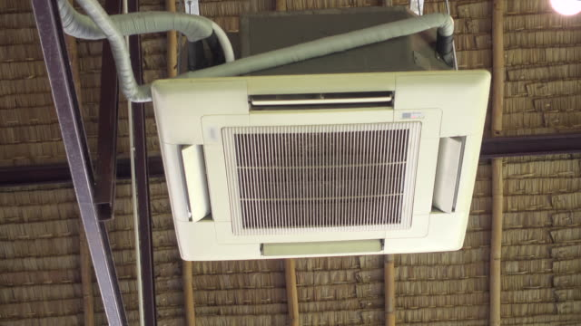 air conditioner on ceiling - pipe stock videos & royalty-free footage