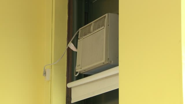 Air conditioning window units in a classroom on Aug 19 2014 on Chicago Ill