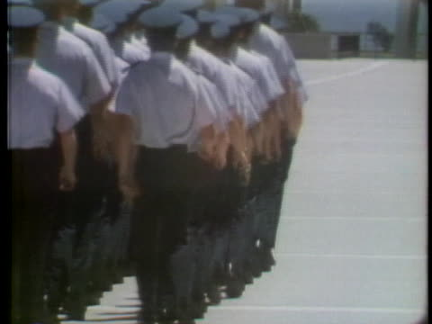 air force academy cadets march and drill. - air force stock videos & royalty-free footage