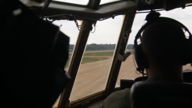 air force airmen from the aerial medical evacuation squadron, along with their british and canadian counterparts train onboard a c-130 hercules 20... - train guard stock videos & royalty-free footage