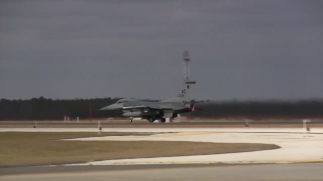us air force airmen from the new jersey air national guard's 177th fighter wing conduct flying operations during exercise coronet white 1401 at... - afterburner stock videos and b-roll footage