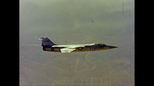 WS AERIAL POVUS Air Force airplane flying in sky / United States