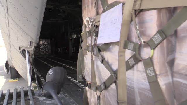 air force c-130j super hercules crew members assigned to the 774th expeditionary airlift squadron transport supplies to various bases after taking... - bagram air base stock videos & royalty-free footage