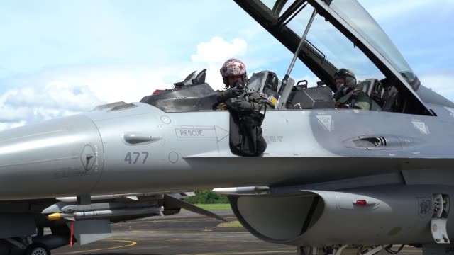 us air force f16c fighting falcons assigned to the 13th expeditionary fighter squadron 35th fighter wing based out of misawa air base japan along... - aircraft canopy stock videos & royalty-free footage