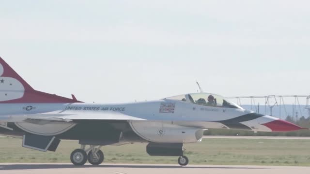 us air force host the 2019 thunder and lightning over arizona airshow at davismonthan air force base - thunderbirds stock videos and b-roll footage