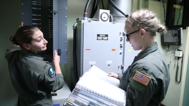 air force missile combat crew, missileers, conduct operational checks and procedures training at launch control center, francis e warren air force... - nuclear missile launch stock videos & royalty-free footage