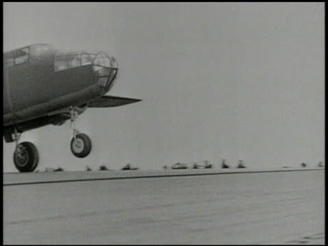 s air force north american b25 mitchell medium bomber aircrafts taking off from uss hornet carrier out at sea on pacific ocean vs b25 bombers flying... - north pacific stock videos & royalty-free footage