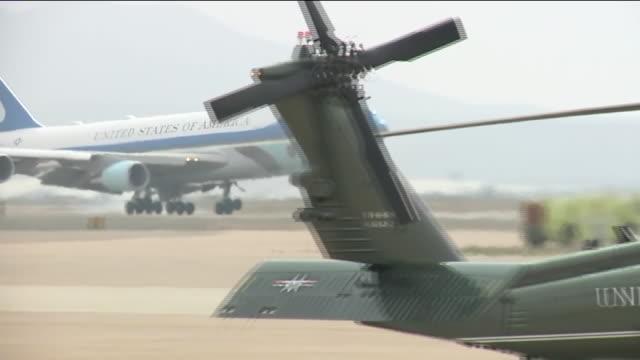 KSWB Air Force One Arrives at Miramar Air Base