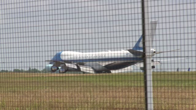 air force one at stansted airport on july 12 2018 in stansted essex - donald trump us president stock videos and b-roll footage