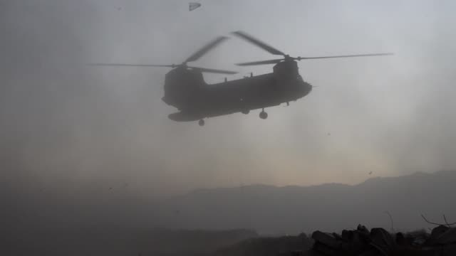 air force pararescue airmen from the 83rd expeditionary rescue squadron at bagram airfield, afghanistan conduct hoist training nov. 1, 2018. - bagram air base stock videos & royalty-free footage