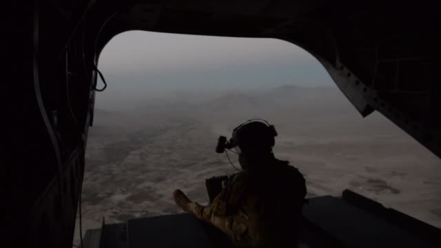 air force pararescue airmen with the 83rd expeditionary rescue squadron conduct in-flight medical training at bagram airfield, afghanistan. - bagram stock videos & royalty-free footage