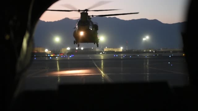 us air force pararescuemen assigned to the 83rd expeditionary rescue squadron work with us army task force brawler flying a ch47f chinook during... - united states airforce stock videos & royalty-free footage