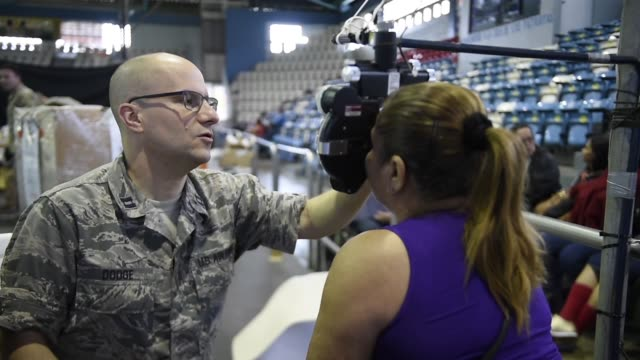 us air force personnel provide medical care during a two week medical exercise in lares puerto rico april 30 2019 - ophthalmologist stock videos and b-roll footage