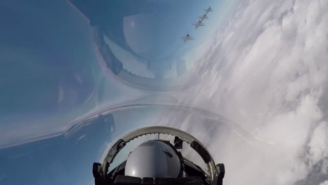 air force pilots assigned to the 560th flying training squadron fly t-38c talons in formation for the 45th freedom flyer reunion over joint base san... - us air force stock videos & royalty-free footage