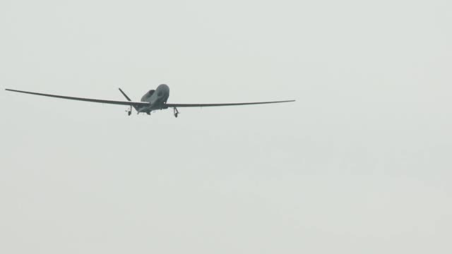 air force rq-4 global hawk in flight. - us military stock videos & royalty-free footage