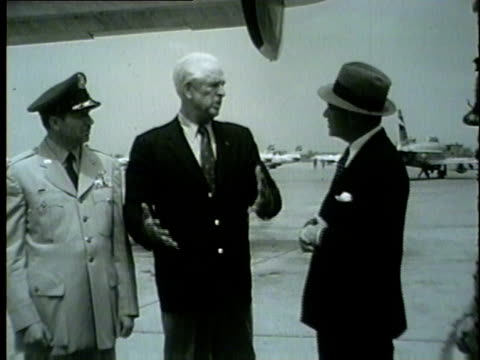 air force secretary harold talbott arrives in chicago on may 22 1954 - 1954 stock videos and b-roll footage