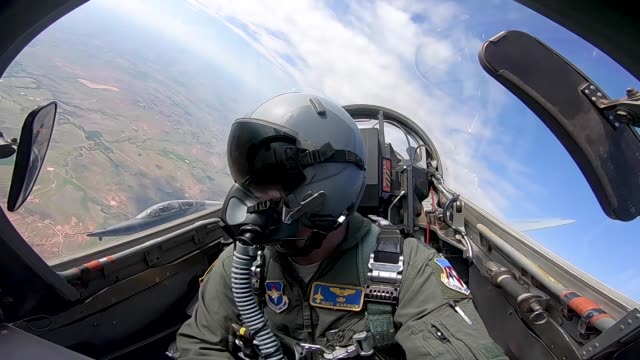 us air force student pilots learn basic maneuvers in a t38 talon may 14 at vance air force base oklahoma - instructor stock videos & royalty-free footage