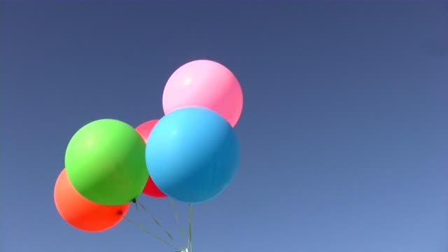 air helium balloon (decoration) - helium stock videos & royalty-free footage
