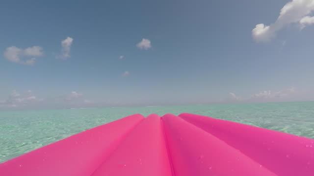 air mattress on the sea