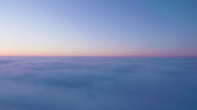 Air Plane View of The Horizon at Dawn
