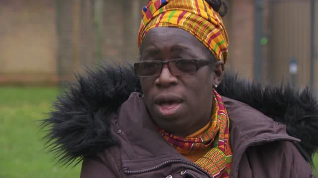 stockvideo's en b-roll-footage met coroner rules air pollution contributed to death of ella kissi-debrah; england: london: ext rosamund addo-kissi-debrah interview sot - itv