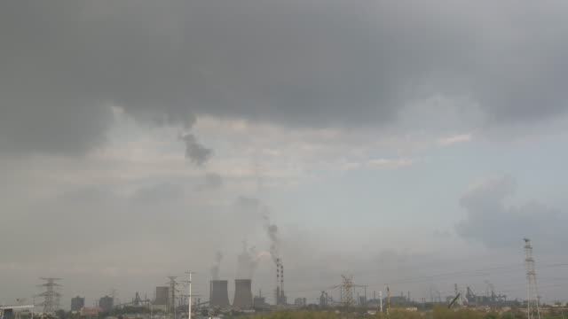 air pollution from industry waste - air pollution stock videos & royalty-free footage