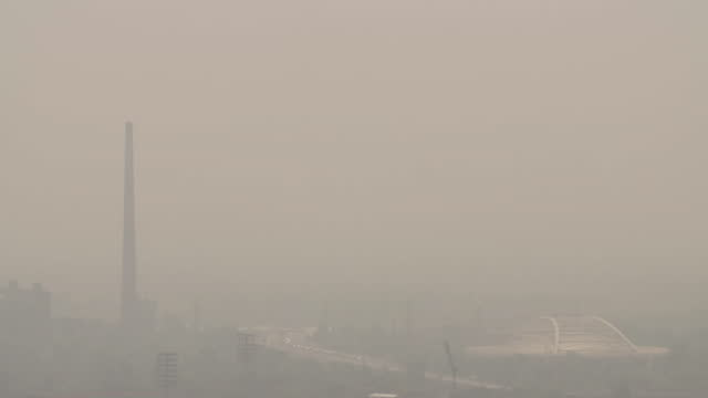 air pollution in delhi, india - smog stock videos & royalty-free footage