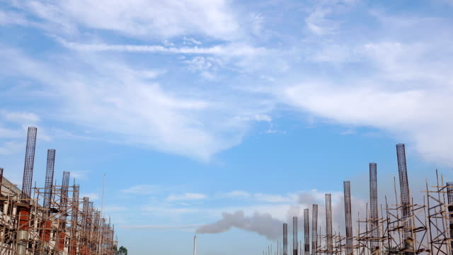 4k: air pollution smoke from the chimneys - air pollution stock videos & royalty-free footage