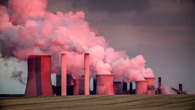 air pollution - coal fired power station stock videos and b-roll footage