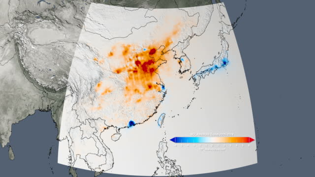 Air quality in East Asia, 2005-2014