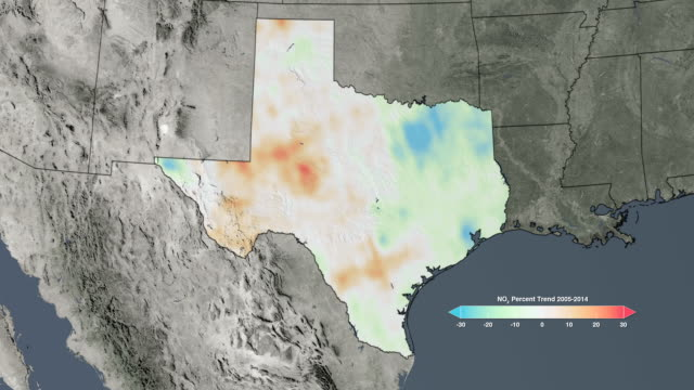 Air quality in Texas, USA, 2005-2014