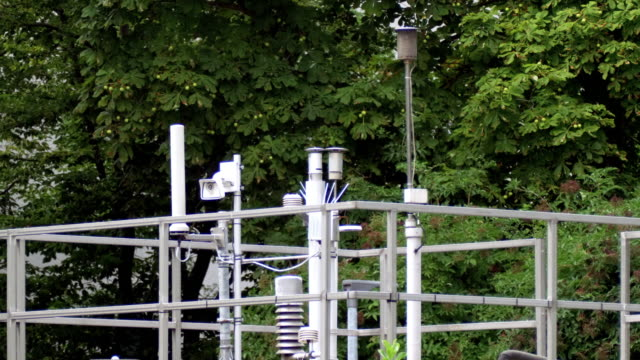 air quality micro climate monitoring system (carbon monitoring) in the city - quality stock videos & royalty-free footage