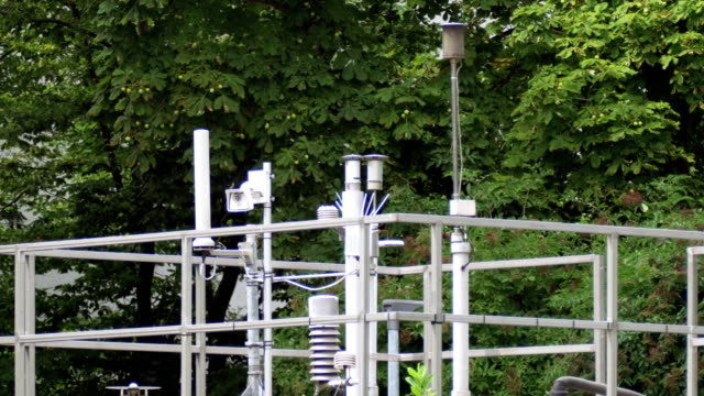 air quality micro climate monitoring system (carbon monitoring) in the city - air pollution stock videos & royalty-free footage